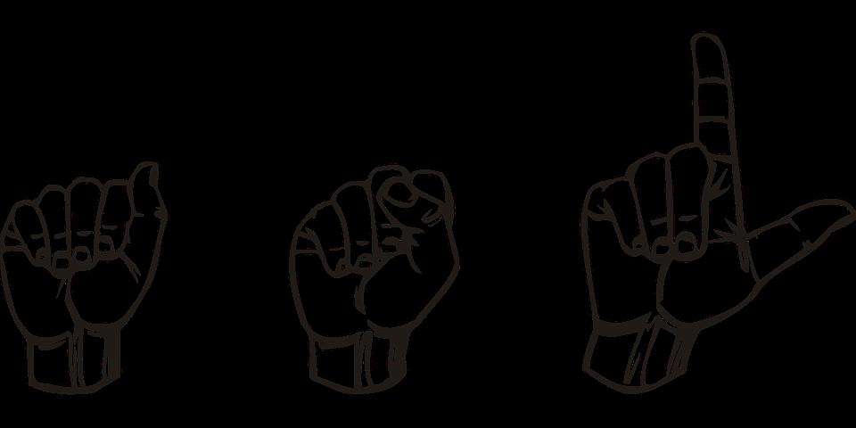 Imagen de referencia de Lengua de señas